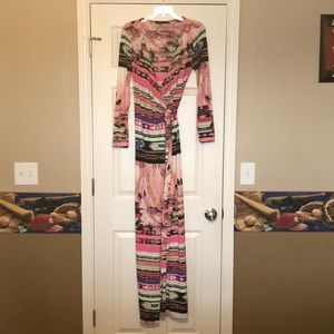 Women's Ark & Co. maxi wrap dress size large